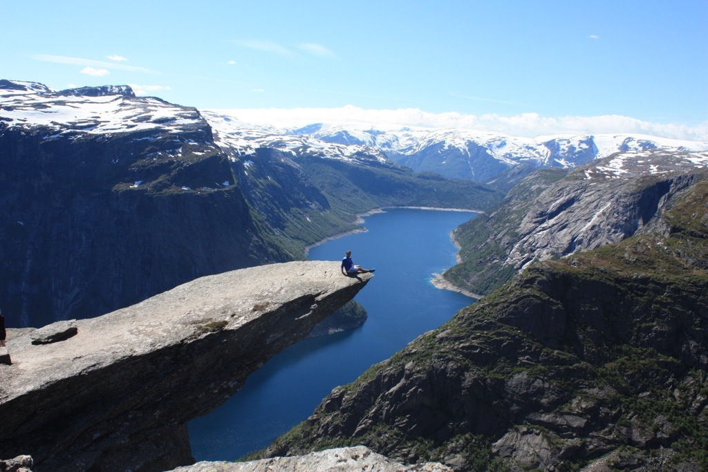 Me, enjoying life at Trolltunga