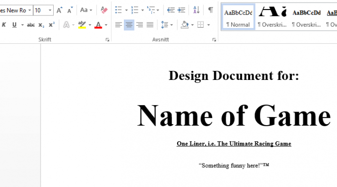 The game design document