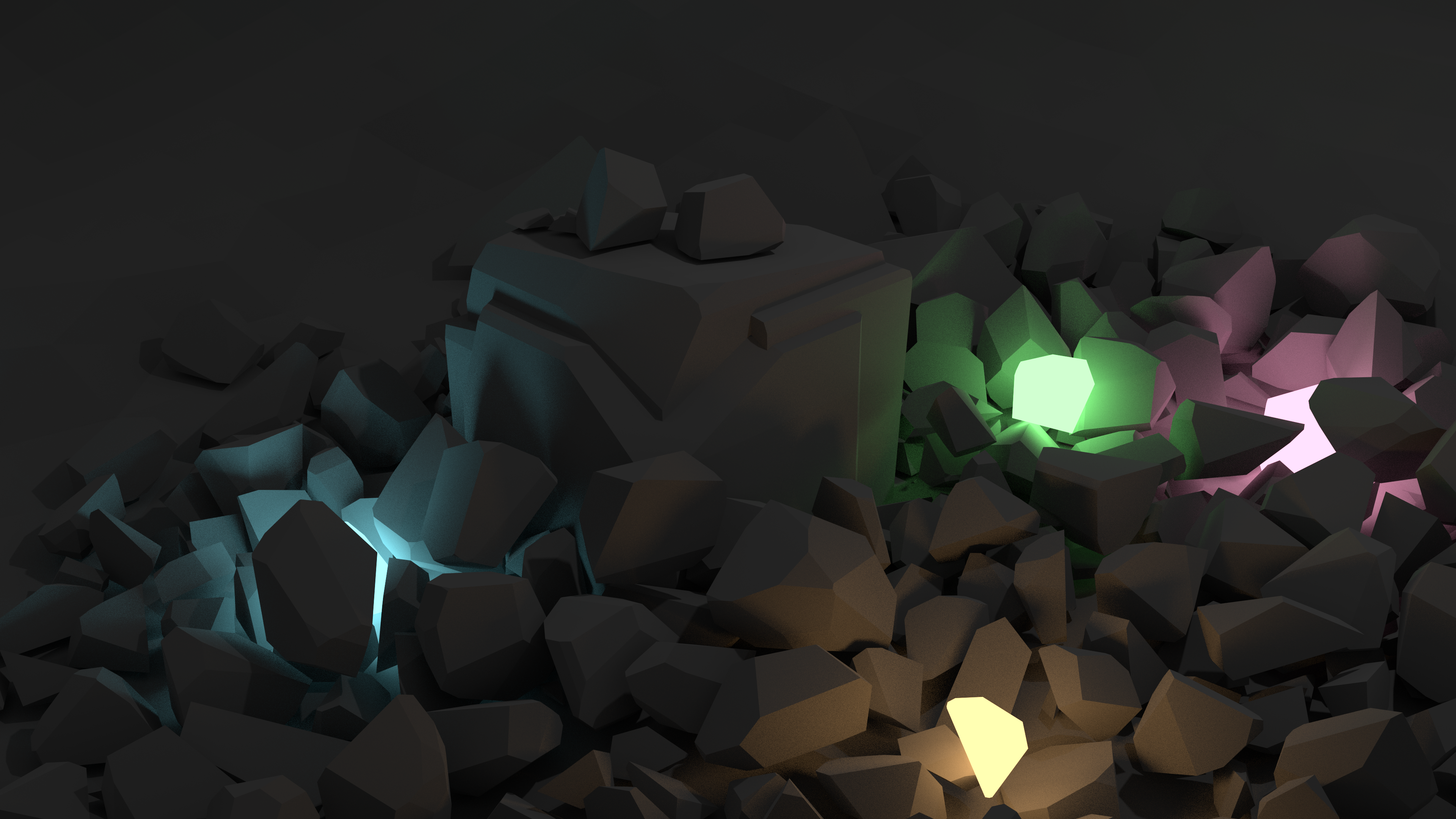 Low poly rock models battlemaze experimented with some low poly rocks and lighting baditri Choice Image